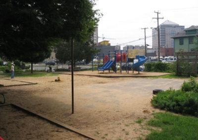 Before: asphalt and sand
